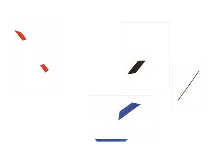 45° und 0° on paper